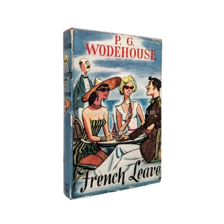 French Leave Signed by P.G. Wodehouse First Edition Herbert Jenkins 1955